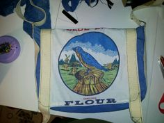 Bluebird flour messenger bag