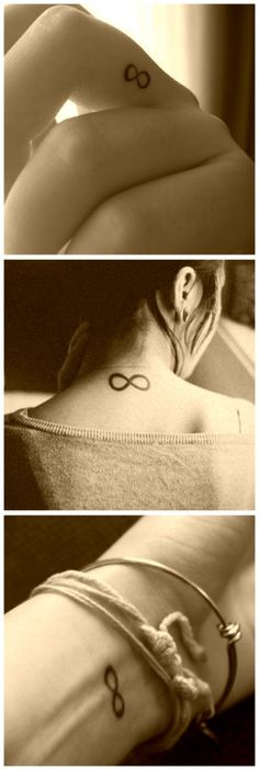 so i already have an infinity tattoo. but the middle one, on the neck, that's exactly where i want my next one.
