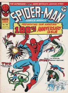 """American """"Amazing Spidey"""" 100 had the wallcrawler fight dreams of his foes before a nightmare scenario becomes real. In this 100, cover-to-cover Spidey stories featuring a mess of mad villains!"""