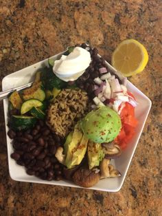 Red quinoa and brown rice Minute rice black bean zucchini bowl. Black Rice, Brown Rice, Minute Rice Recipes, Black Beans, Quinoa, Zucchini, Bowls, Tasty, Organic