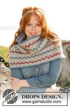 """Pippi shawl by DROPS Design """"Lämmin, viihtyisä ja erikoinen!"""" Neulottu DROPS kauluri """"Alaska""""-langasta."""