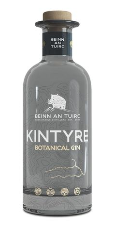 Beinn an Tuirc Distillery proudly presents Kintyre Gin, a beautifully blended spirit using carefully selected botanicals. Alcohol Bottles, Liquor Bottles, Whisky, London Gin, Gin Distillery, Gin Brands, Gin Tasting, Best Gin, Dry Gin