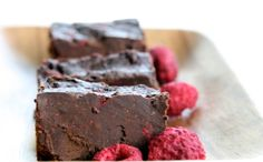 raw Cacao Fudge with Raspberries