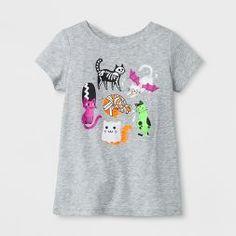 Toddler Girls' Short Sleeve T-Shirt - Cat & Jack™ Heather Gray
