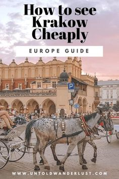 How to see Krakow cheaply - A magical city that stole our hearts Backpacking Europe, Europe Travel Tips, Budget Travel, Travel Hacks, Europe Packing, Traveling Europe, Packing Lists, Travel Deals, Travel Packing