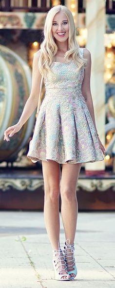 Metallic Pastel Embroidery Inspiration Dress by Meri Wild Blog