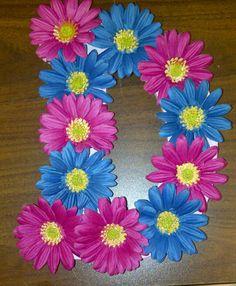 Letter D flower letter