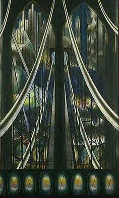 JOSEPH STELLA (Italia 1877- NY 1946), The Bridge. 1920 /  pintor de origen italiano que perteneció a la corriente artística futurista estadounidense / #UrbanPaintings
