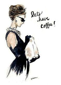 Coffee and Audrey Hepburn.