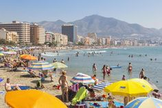 The Beach in Torremolinos Costa Del Sol Spain