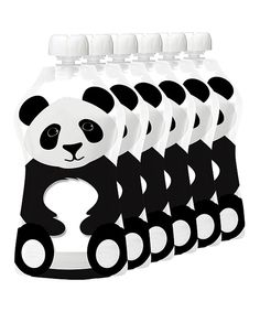 Take a look at this Squooshi Panda Squooshi Reusable Food Pouch - Set of Six today!