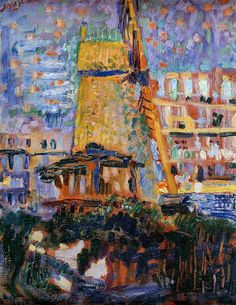 'Sawmill Het Luipaard' by Jan Sluyters Netherlands) Dutch Painters, Post Impressionism, Dutch Artists, Art Database, Henri Matisse, Illustrations, Les Oeuvres, Modern Art, Contemporary Art