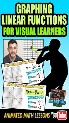Need some help with graphing linear functions? Check out our colorful and animated CCLS algebra lesson on graphing lines in the coordinate plane. For more animated math lessons, check out our YouTube channel and be sure to subscribe--we add new lessons every week! :)