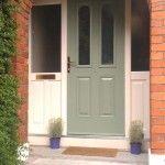 Composite door, Lombard door panel design, Chartwell Green