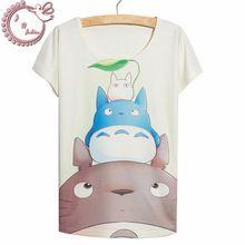 Nueva moda de verano 2016 estilo de las ventas calientes de impresión Totoro…