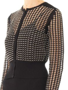 Open-lace cropped cardigan | Alexander McQueen | MATCHESFASHIO...
