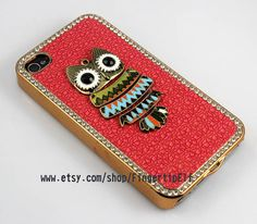 owlIphone Case iPhone 4 Case iphone 4 cover New by FingertipElf, $13.99
