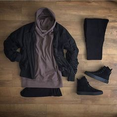 WEBSTA @ kylescropper - Love it when packages come  Askyurself bomber Khzari SZN 3 deep taupe hoodie Represent under teeKhzari zip joggersRepresent alpha sneaker Use code