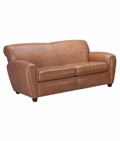 Baxter Designer Style Art Deco Leather Club Couch