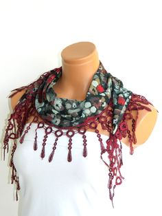Wine Multicolor 2012 summer trends Scarf by WomanStyleStore, $14.00