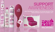 Support Awareness & Think Pink! #paulmitchell #pmtssandiego#breastcancerawareness #October #pink #products