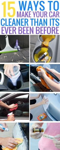 These 15 genius car cleaning hacks are THE BEST! I'm so happy I found these AMAZING tips! Now, whenever I need to deep clean my car I can reference this incredible article. Definitely pinning! #carcleaning #lifehack #carcleaningtips