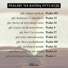 Psalm na każdą okazję Psalm 24, Music Humor, S Word, God Is Good, Trust God, Better Life, Gods Love, Life Lessons, Texts