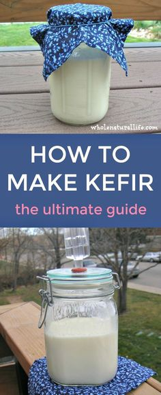 Learn how to make kefir at home. Homemade milk kefir is bursting with beneficial probiotics, and its easy and inexpensive to make it yo. Kimchi, Probiotic Foods, Fermented Foods, Kefir Yogurt, Kefir Milk, Vegan, Kefir How To Make, Making Kefir, Kefir Benefits