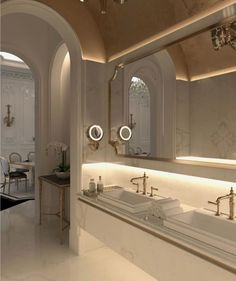 Contemporary Home Decor pin design 3991917909 to attempt for one stunning room decorating. Home Room Design, Dream Home Design, Home Interior Design, House Design, Espace Design, Bathroom Design Luxury, Dream Apartment, Dream Bathrooms, House Rooms