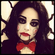 Jigsaw make up   Halloween Love   Halloween, Halloween ...