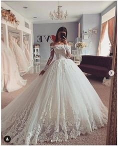 Ball Gown Wedding Dress Long Sleeve Lace Wedding Bridal Gowns sold by Wedding store. Shop more products from Wedding store on Storenvy, the home of independent small businesses all over the world. Cute Wedding Dress, Wedding Dress Trends, Long Wedding Dresses, Long Sleeve Wedding, Princess Wedding Dresses, Modest Wedding, Casual Wedding, Floral Wedding, Wedding Lace