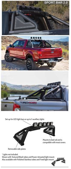 Check out our Offroad Sport RollBar for most Pickups; including the Ford Ford F150 Accessories, Pickup Truck Accessories, Car Accessories, Offroad Accessories, Ford Ranger, Accessoires 4x4, Truck Accesories, Vw Amarok, Truck Mods