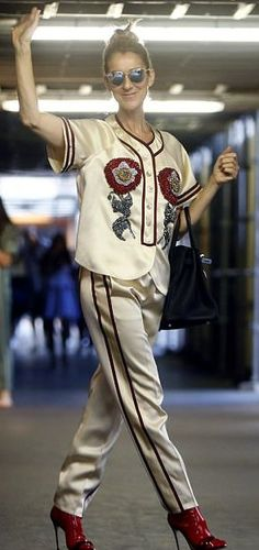 Celine Dion in Gucci out in Paris. #bestdressed