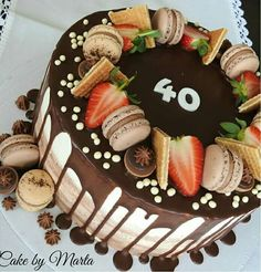 40th Cake, Birthday Cake, Chocolate Cake, Tiramisu, Cakes, Cooking, Ethnic Recipes, Desserts, Food