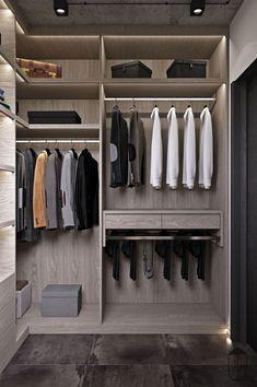 walk in closet design Wardrobe Design Bedroom, Master Bedroom Closet, Bedroom Wardrobe, Wardrobe Closet, Bedroom Cupboard Designs, Bedroom Cupboards, Walk In Closet Design, Closet Designs, Wardrobe Internal Design