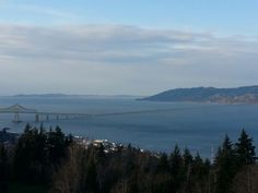 View of the Columbia River and the bridge to Washington,  from the Astoria Column