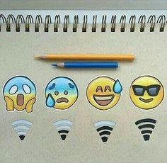 Emoji Drawings, Pencil Art Drawings, Kawaii Drawings, Art Drawings Sketches, Disney Drawings, Social Media Art, Cute Easy Drawings, Emoji Wallpaper, Doodle Art