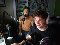 Michael and Gavin playing together, play pals Gavin Free, Scary Games, Achievement Hunter, Rooster Teeth, Five Nights At Freddy's, Good Mood, Youtube, Instagram, Hunters
