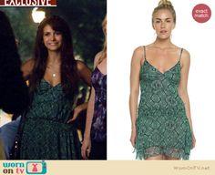 Elena's green dress on The Vampire Diaries Season 5. Outfit Details: http://wornontv.net/18999