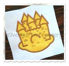 $2.95Applique Sand Castle Machine Embroidery Design