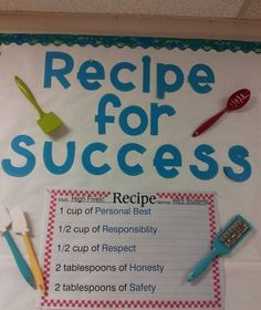 Recipe For Success Character Education Bulletin Board Idea by Mrs. Boatwright