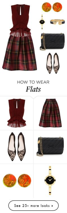 """""""Untitled #1170"""" by bushphawan on Polyvore featuring Sofie D'hoore, Isabel Marant, Chanel, Movado, Juicy Couture and Sophia Webster"""