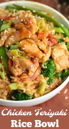 Easy Chicken Teriyaki recipe made with juicy chicken thigh meat, lots of vegetables, homemade teriyaki sauce, and fluffy rice. Teriyaki Chicken Bowl Recipe, Make Teriyaki Sauce, Teriyaki Chicken And Rice, Chicken Rice Bowls, Chicken Recipes, Recipes With Teriyaki Sauce, Teriyaki Bowl, Chicken Meals, Turkey Recipes