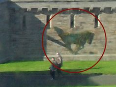 The Ghost Horse of Bamburgh Castle: When examining the pics you can see the different shadows being cast from the castle and the horse shadow is not part of the castle. Real Ghost Pictures, Ghost Images, Creepy Pictures, Ghost Photos, Paranormal Pictures, Paranormal Stories, Ghost Caught On Camera, Spirit Ghost, Ghost Sightings