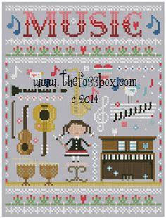 Music Cross Stitch Pattern