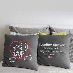 BoldLoft Together Forever Grey Euro Pillow Case-Long Distance Relationships Pillow Covers – Long distance relationships gifts for him and her. Long Distance Relationship Pillow, Distance Relationships, Relationship Quotes, Together Forever Never Apart, Cute Couple Gifts, Couple Pillowcase, Euro Pillow Covers, Long Distance Boyfriend, Diy Gifts For Him