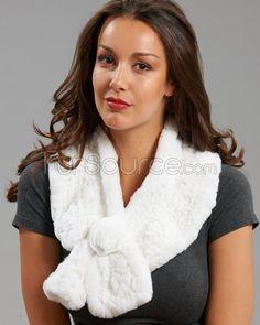 Wide Rex Rabbit Fur Scarf with Rosette - White Wedding Fur, Luxury Wedding, Mink Jacket, Rabbit Fur Coat, Rex Rabbit, Fabulous Furs, White P, Fur Blanket, Clothes