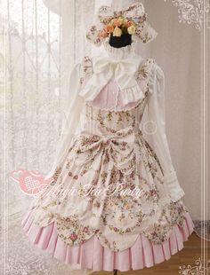 ロリータジャンパースカート ピンク 編み上げ 可愛い コットン