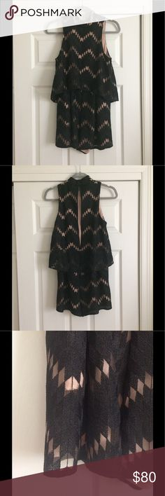 "🌴NEW LISTING🌴 Sexy Romper NWT. Black mesh with nude lining romper. Great for a night out! Very sexy!         Approximate measurements are: 17"" flat armpit to armpit, 13"" flat waist, 30"" length from shoulder to hem, 2"" inseam Stylestalker Other"