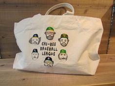 baseball ジップトートバッグ
